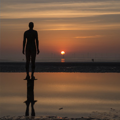 Crosby Beach, Another Place photography